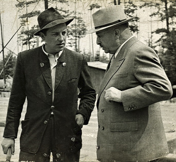 Gustav Epple (rechts) mit Sohn und Unternehmensnachfolger Fritz Epple (links).