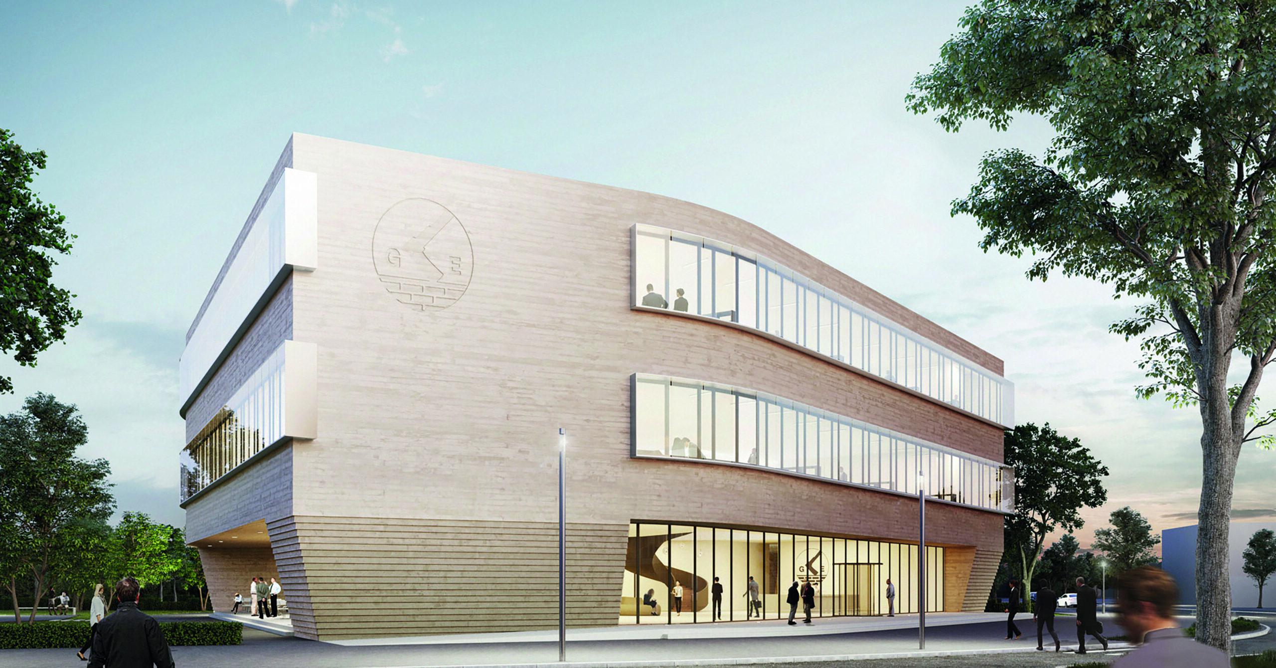 Die neue Hauptverwaltung mit 4.300 Quadratmetern Fläche auf drei Geschossen und innen liegendem Atrium ab September 2021.